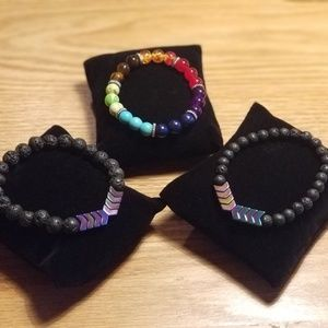 Triple Chakra/Negativity blocking bracelet